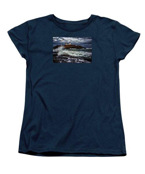 Autumn Storm At Cape Neddick Women's T-Shirt (Standard Cut)