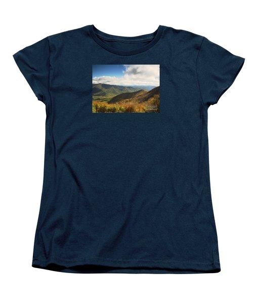 Autumn Storm Clouds Blue Ridge Parkway Women's T-Shirt (Standard Cut)
