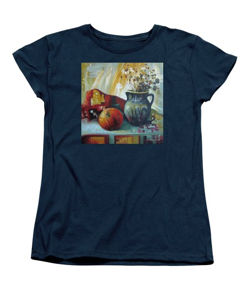 Women's T-Shirt (Standard Cut) featuring the painting Autumn Story by Elena Oleniuc