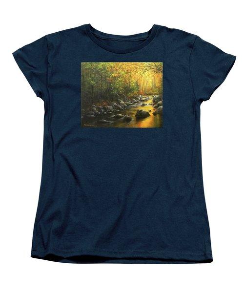 Autumn Stream Women's T-Shirt (Standard Cut) by Kim Lockman