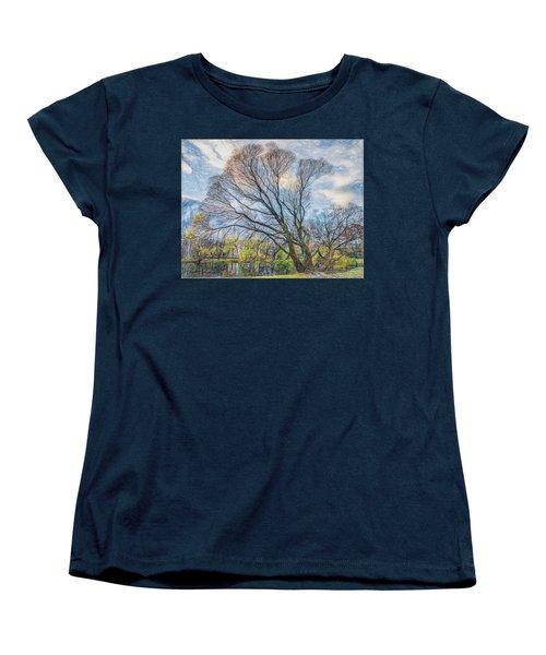 Women's T-Shirt (Standard Cut) featuring the photograph Autumn Tree by Vladimir Kholostykh