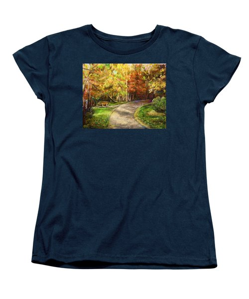 Autumn Walk Women's T-Shirt (Standard Cut) by Bernadette Krupa