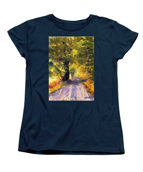 Autumn Walk Women's T-Shirt (Standard Cut) by Gail Kirtz