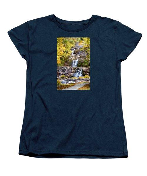 Autumn Waterfall Women's T-Shirt (Standard Cut) by Brian Caldwell