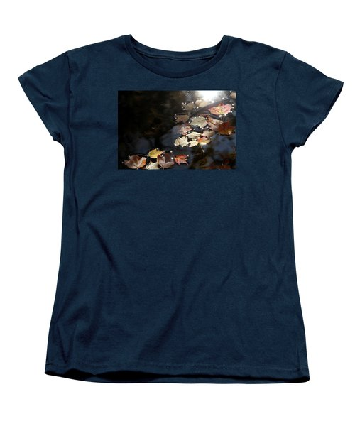 Autumn With Leaves On Water Women's T-Shirt (Standard Cut)