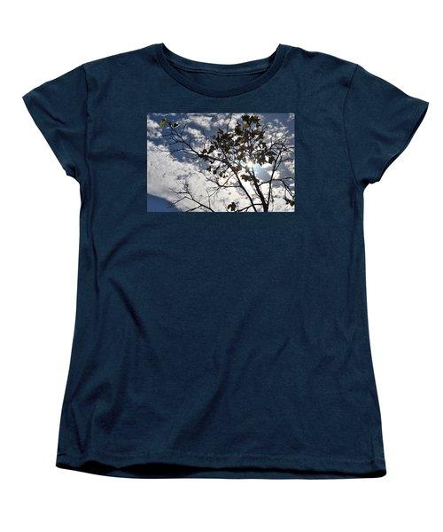 Autumn Yellow Back-lit Tree Branch Women's T-Shirt (Standard Cut)