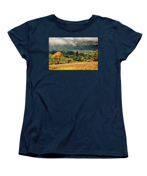 Autumnal Hills Women's T-Shirt (Standard Cut) by Silvia Ganora