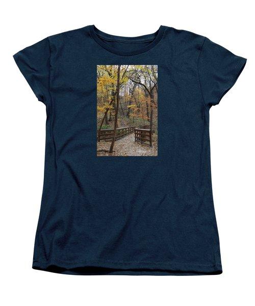 Autumnal Leaves Women's T-Shirt (Standard Cut) by Yumi Johnson