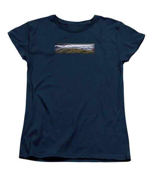 Autumnal Mountains Women's T-Shirt (Standard Cut) by Walt Foegelle