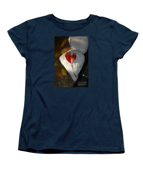 Women's T-Shirt (Standard Cut) featuring the photograph Autumn's Love And Serenity by Debra Thompson