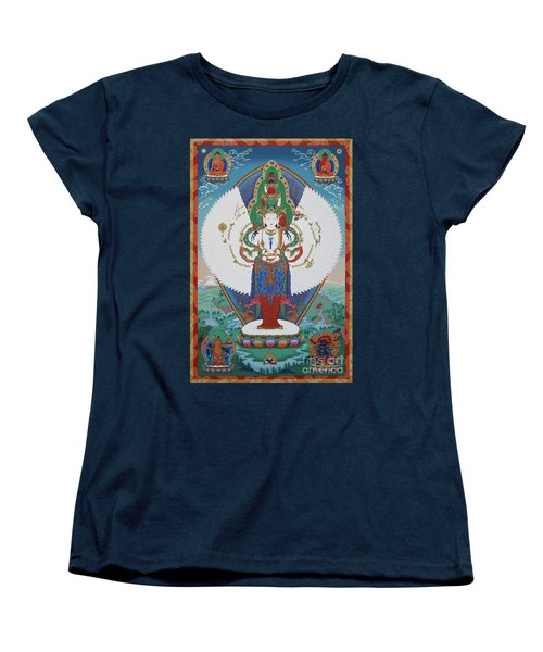 Avalokiteshvara Lord Of Compassion Women's T-Shirt (Standard Cut) by Sergey Noskov