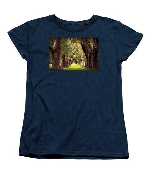 Avenue Of Oaks Sea Island Golf Club St Simons Island Georgia Art Women's T-Shirt (Standard Cut) by Reid Callaway