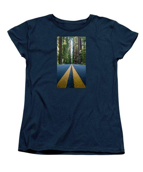 Avenue Of The Giants Women's T-Shirt (Standard Cut) by Alpha Wanderlust