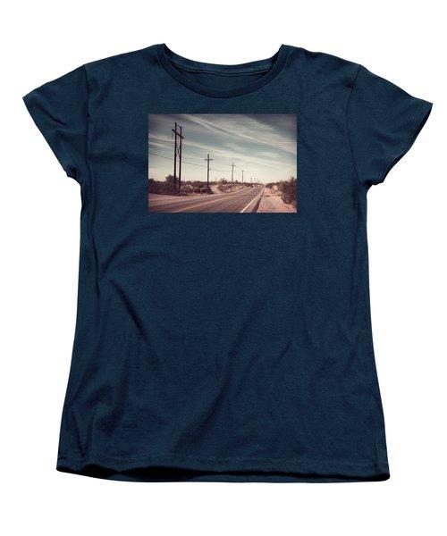 Women's T-Shirt (Standard Cut) featuring the photograph Az Highway by Joseph Westrupp