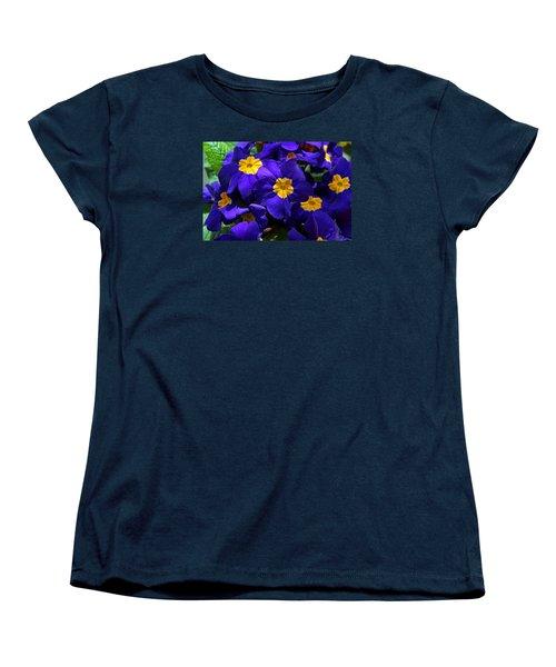 Azure Primrose Women's T-Shirt (Standard Cut) by Michiale Schneider