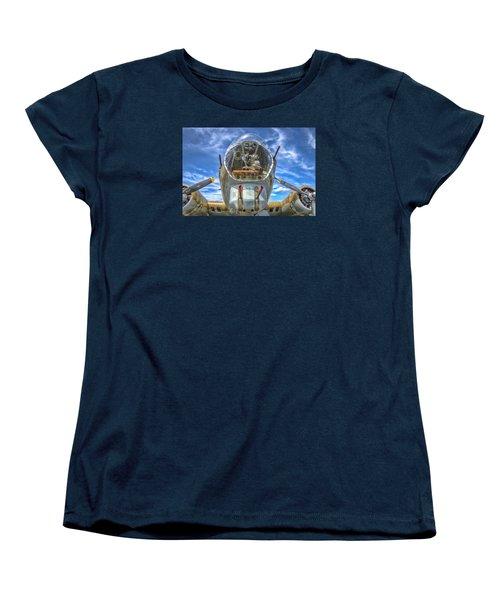 B 17 Up Close Women's T-Shirt (Standard Cut) by Gary Slawsky
