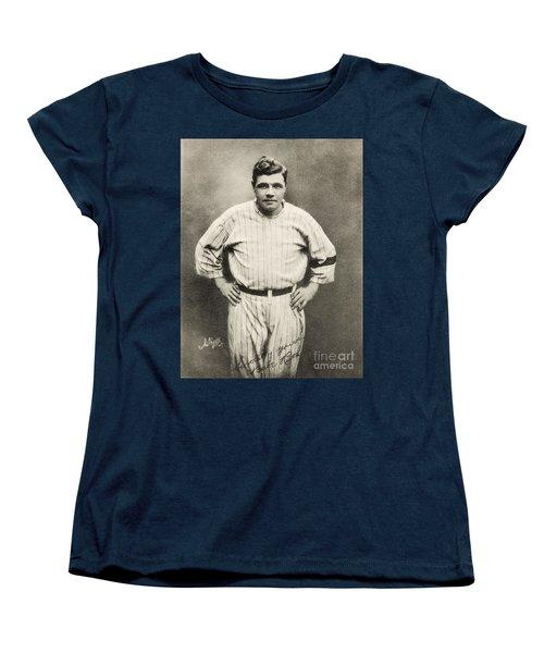 Babe Ruth Portrait Women's T-Shirt (Standard Cut) by Jon Neidert