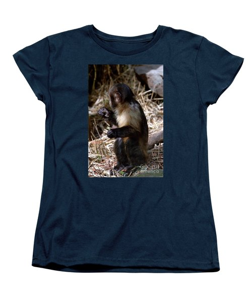 Baby Brown Capuchin Monkey Women's T-Shirt (Standard Cut) by Baggieoldboy
