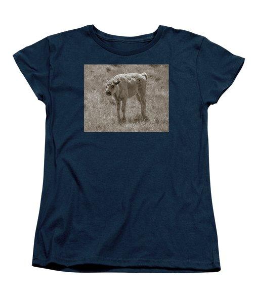 Women's T-Shirt (Standard Cut) featuring the photograph Baby Buffalo by Rebecca Margraf