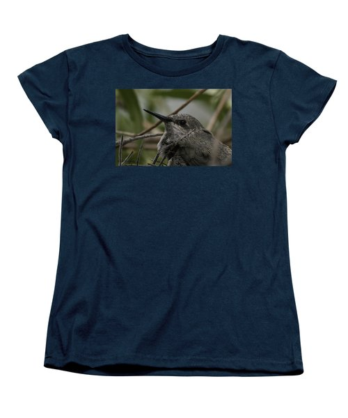 Baby Humming Bird Women's T-Shirt (Standard Cut) by Lynn Geoffroy