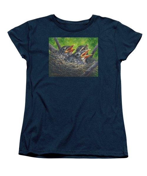 Baby Robins Women's T-Shirt (Standard Cut) by Kim Lockman