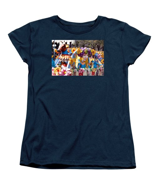 Bacchus Mardis Gras Float Women's T-Shirt (Standard Cut) by Carol M Highsmith