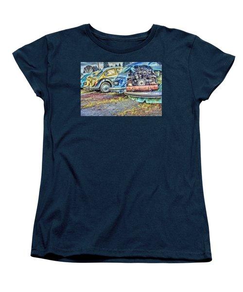 Women's T-Shirt (Standard Cut) featuring the photograph Back End Bugs by Jean OKeeffe Macro Abundance Art
