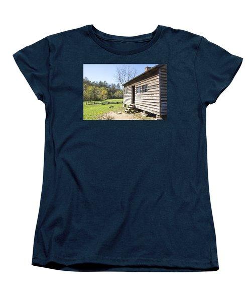 Back Porch Women's T-Shirt (Standard Cut) by Ricky Dean