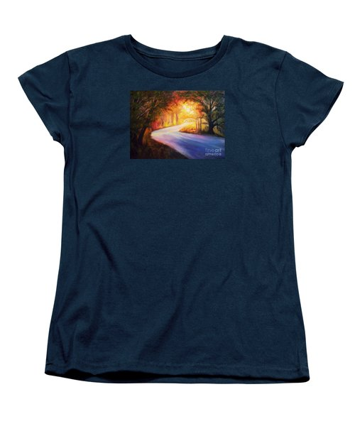 Back Road To Paradise Women's T-Shirt (Standard Cut) by Karen Kennedy Chatham