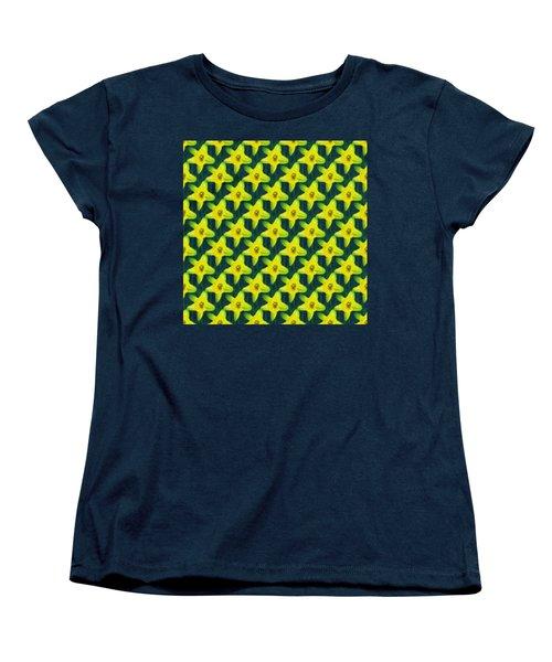 Background Choice Daffodils Women's T-Shirt (Standard Cut) by Barbara Moignard