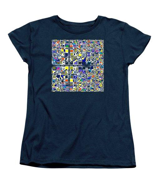 Background Choice Squares Women's T-Shirt (Standard Cut) by Barbara Moignard