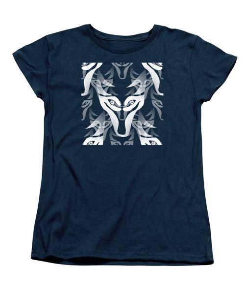 Background Choice White Wolf Women's T-Shirt (Standard Cut) by Barbara Moignard