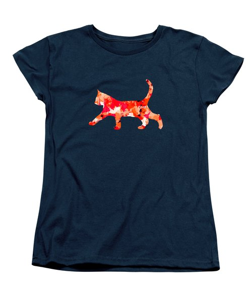 Background Colour Choice Cat Women's T-Shirt (Standard Cut) by Barbara Moignard