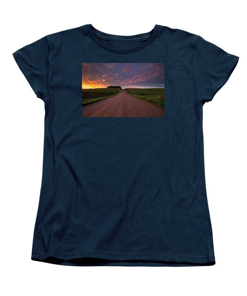 Women's T-Shirt (Standard Cut) featuring the photograph Backroad To Heaven  by Aaron J Groen