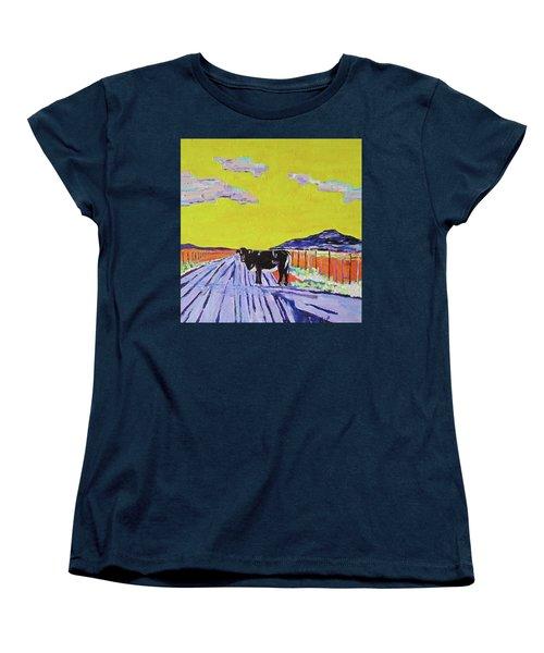 Backroads Abiquiu, New Mexico Women's T-Shirt (Standard Cut) by Brenda Pressnall