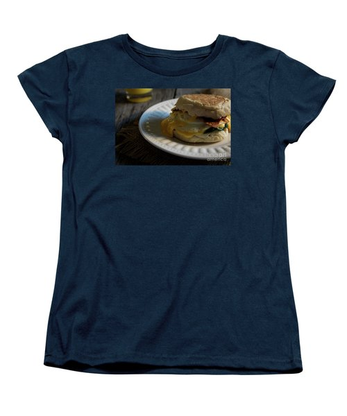 Women's T-Shirt (Standard Cut) featuring the photograph Bacon And Cheese by Deborah Klubertanz