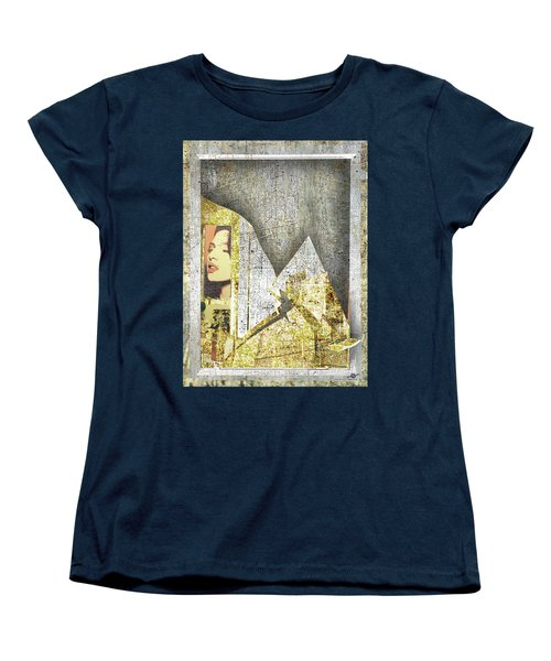 Women's T-Shirt (Standard Cut) featuring the mixed media Bad Luck by Tony Rubino