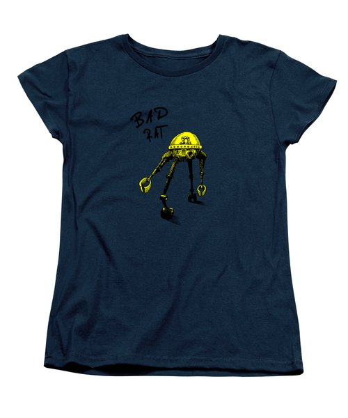 Bad Rat In Retro Yellow Women's T-Shirt (Standard Cut) by Kim Gauge