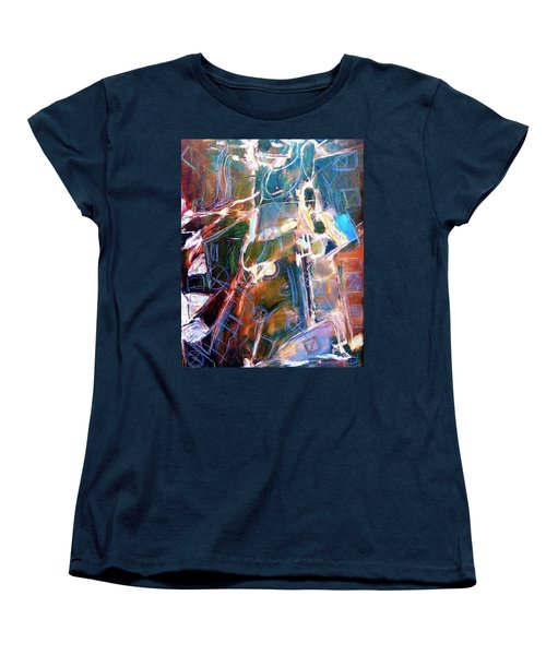 Women's T-Shirt (Standard Cut) featuring the painting Badlands 1 by Dominic Piperata