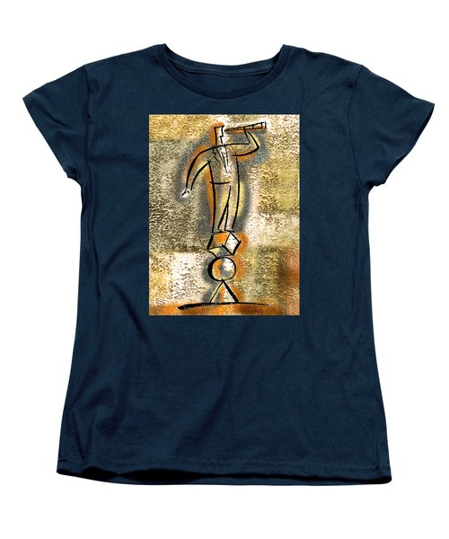 Women's T-Shirt (Standard Cut) featuring the painting Balance by Leon Zernitsky
