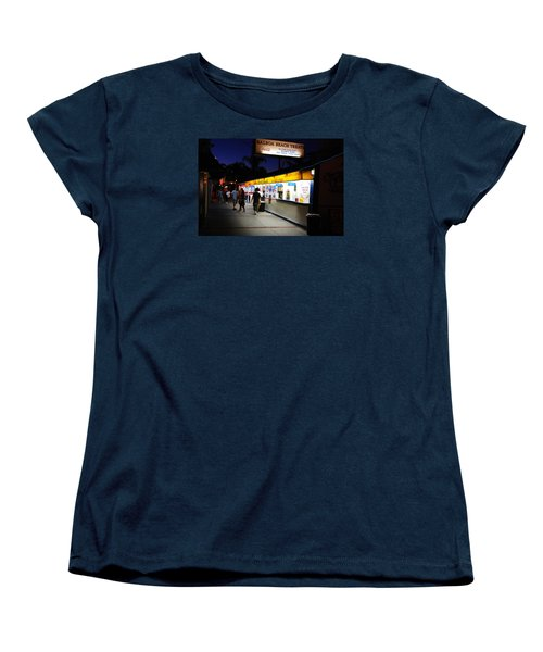 Women's T-Shirt (Standard Cut) featuring the photograph Balboa Pier Nghts by James Kirkikis