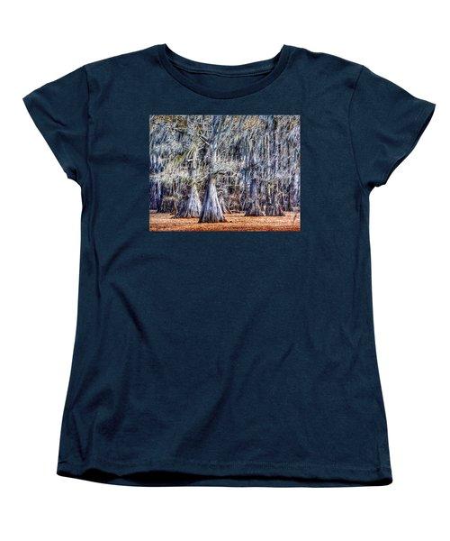 Bald Cypress In Caddo Lake Women's T-Shirt (Standard Cut) by Sumoflam Photography