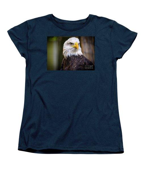 Bald Eagle Women's T-Shirt (Standard Cut) by Lisa L Silva