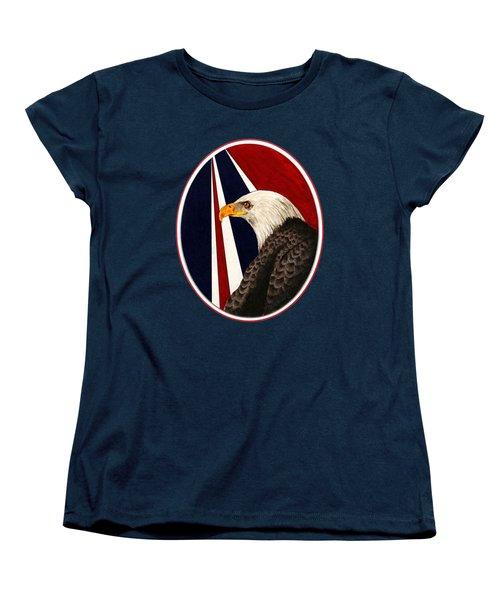 Bald Eagle T-shirt Women's T-Shirt (Standard Cut) by Herb Strobino