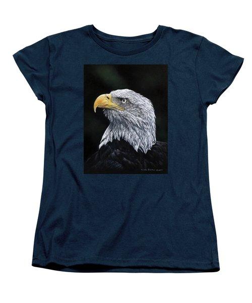 Bald Eagle Women's T-Shirt (Standard Cut) by Linda Becker