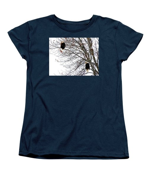 Women's T-Shirt (Standard Cut) featuring the photograph Bald Eagle Pair by Will Borden