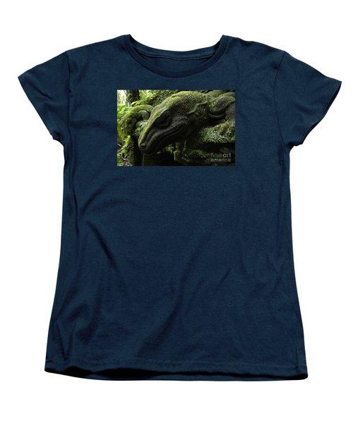 Bali Indonesia Lizard Sculpture Women's T-Shirt (Standard Cut)