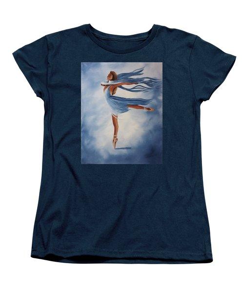 Ballerina Women's T-Shirt (Standard Cut) by Edwin Alverio
