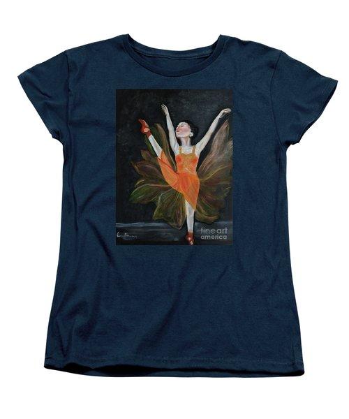 Women's T-Shirt (Standard Cut) featuring the painting Ballet Dancer 1 by Brindha Naveen