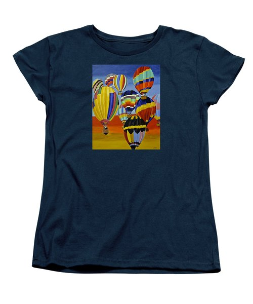 Balloon Expedition Women's T-Shirt (Standard Cut) by Donna Blossom